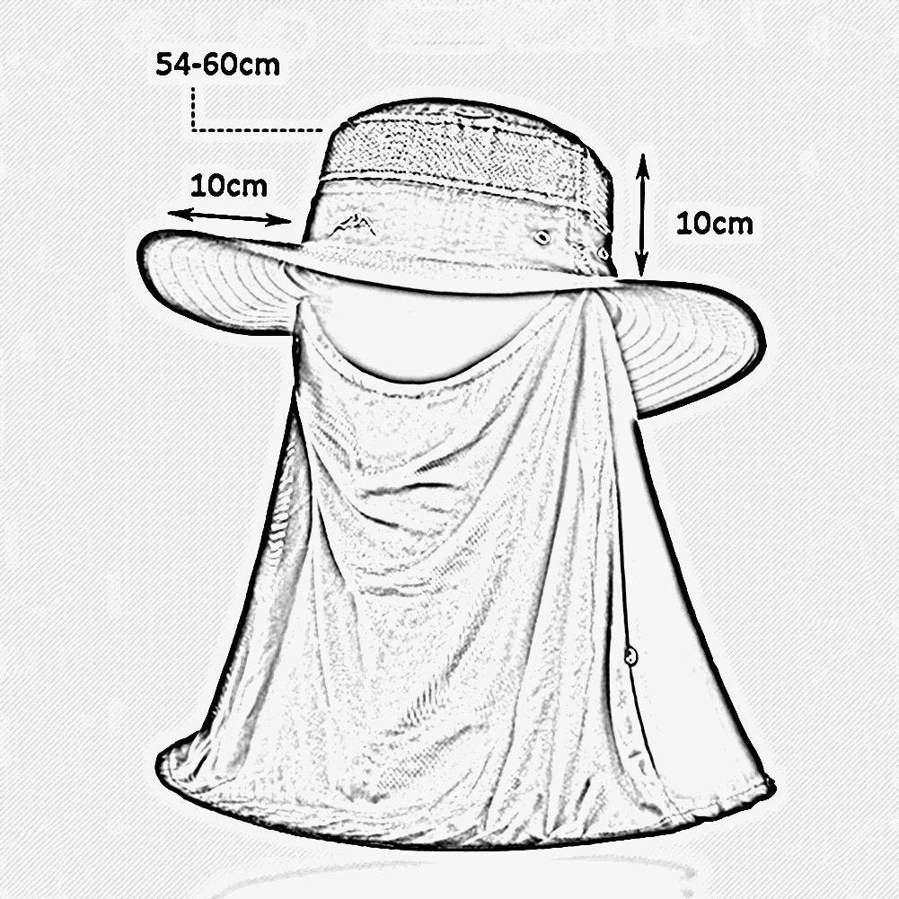 HAIPENG gorra Verano Gorros Para El Sol Sombreros Viseras Gorras Gorro De Pescador  Pare Hombre Anti-UV Desmontable Sombra Proteccion Solar Pescar da6522ff45c