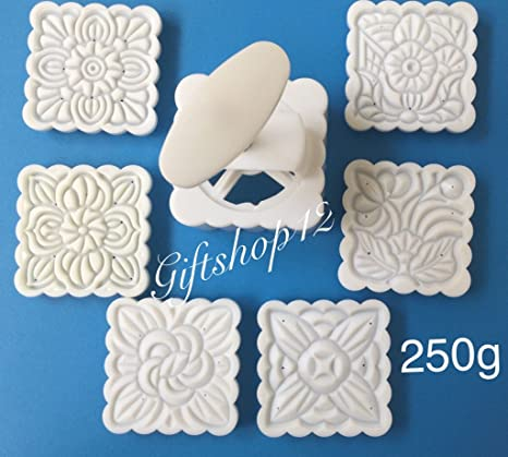 0484c17b7 Amazon.com: Giftshop12 Moon Cake Mold Traditional White Square Cookie  Cutter Mold Extra Large 250g: Candy Making Molds: Kitchen & Dining