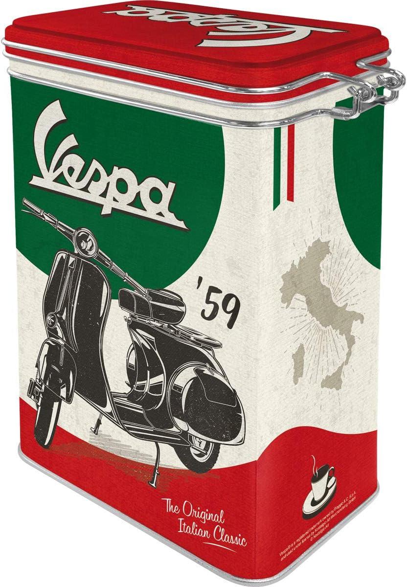 Nostalgic-Art Vespa-The Italian Classic Contenitori per Alimenti Multicolore 11 x 18 x 8
