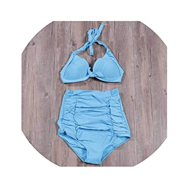 0e2a9d36294 Amazon.com: 2019 New Summer Sexy Bikinis Women Swimsuit High Waisteds Push  Up Set Dot Plus Size Swimwear S~4XL: Clothing