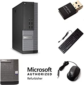 Dell OptiPlex 7020 Desktop PC Bundle with New Periphio Accessory Pack - Intel Quad Core i5 3.2 GHz, 16GB RAM, 2 TB HDD, DVD, Windows 10 Pro, Periphio USB WiFi & Bluetooth, Keyboard, Mouse (Renewed)