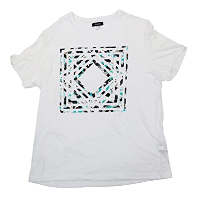 Alfani Gallery Graphic Print Short Sleeve Crew Neck T-Shirt | Amazon.com