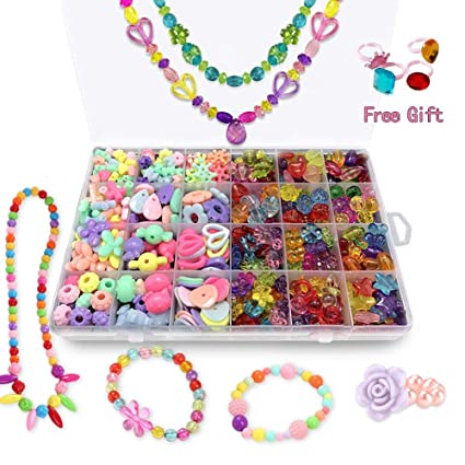 Amazon Com Andyken Bead Kits For Jewelry Making Craft Beads For