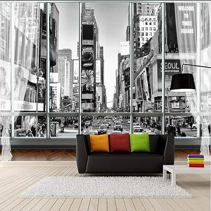 Amazon Com Xbwy Custom Stereoscopic Wallpaper For Walls 3d Black