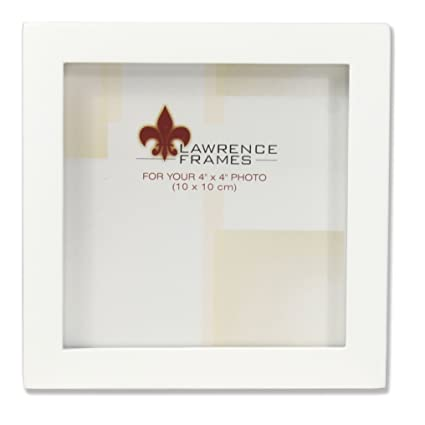 Amazon Lawrence Frames 4 X 4 White Wood Picture Frame Gallery