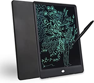 10-inch Environmental Friendly LCD Writing pad, Portable Digital Drawing Board, Message memo Electronic Tablet. Black. Orange (Black)