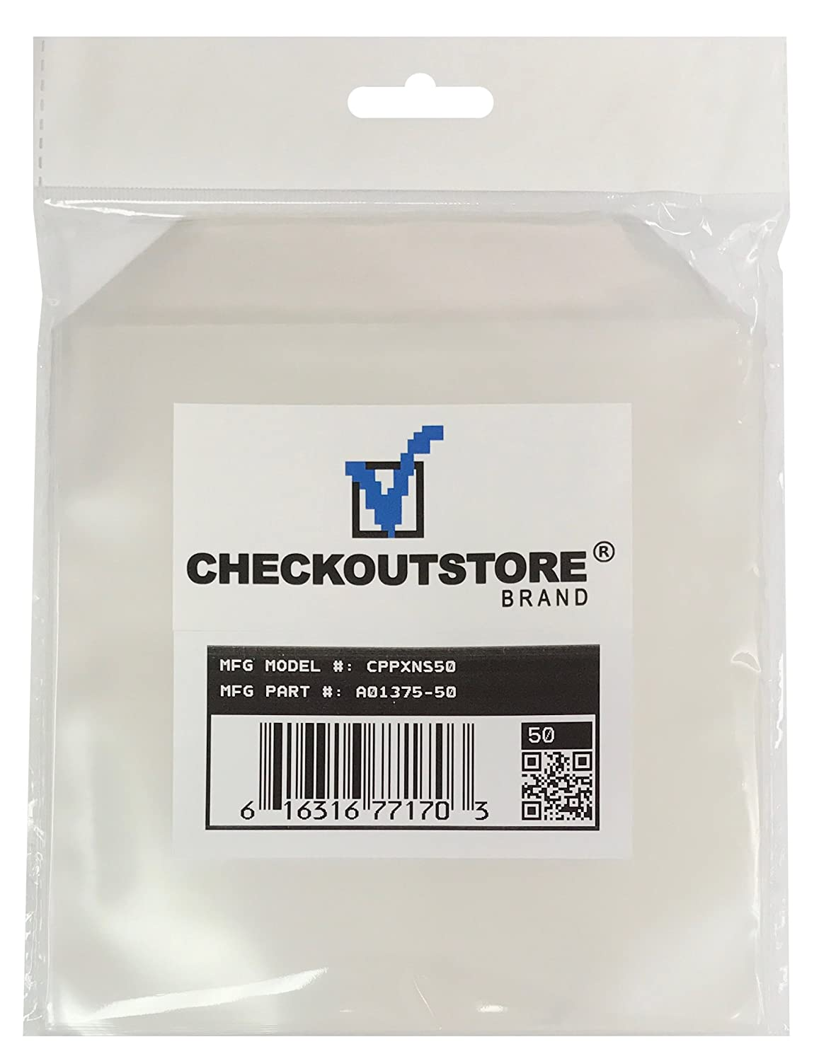 50 CheckOutStore Clear Storage Pockets (6 x 6)