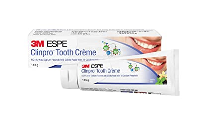 Clinpro 3M Tooth Creme 0 21% NaF Anticavity Toothpaste - 114 g (Vanilla  Mint)