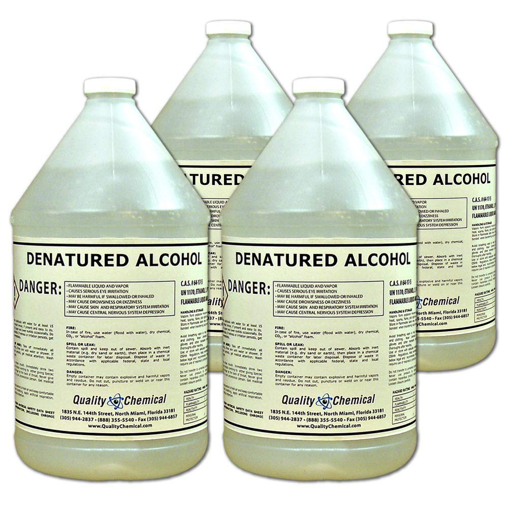 Denatured Alcohol (Ethanol)-4 Gallon case by Quality Chemical