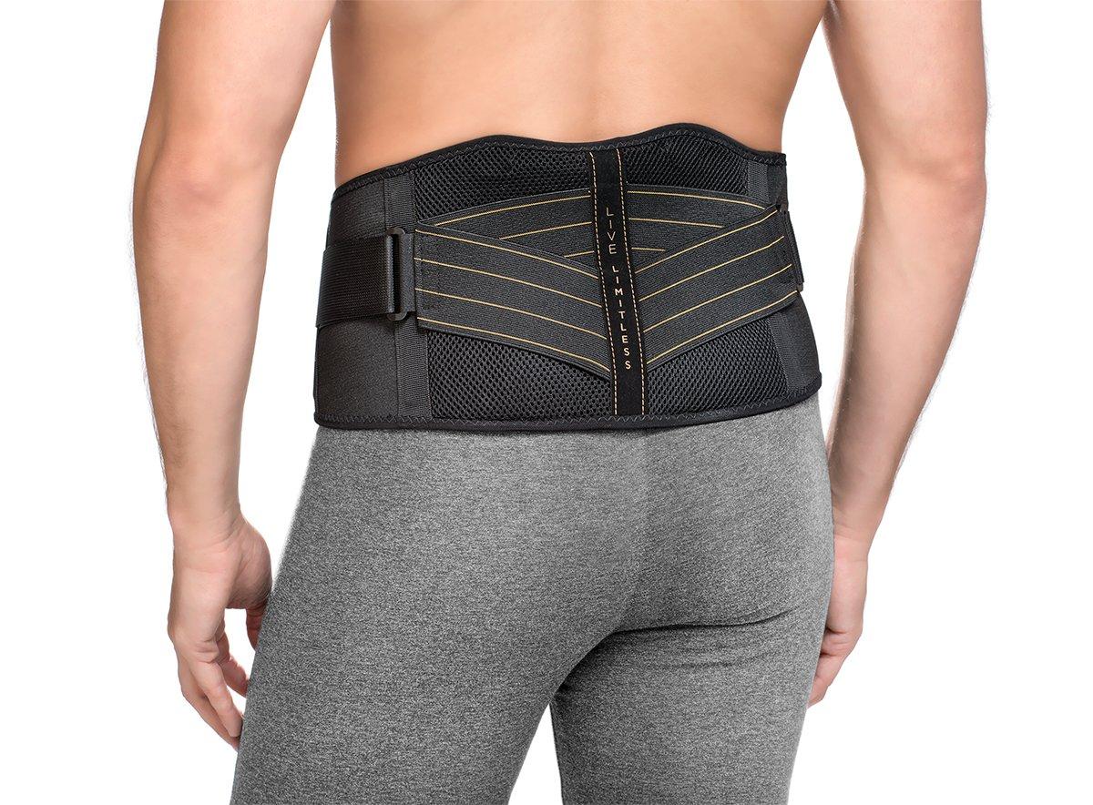 Copper Fit Men's Advanced Back Support, Black, Large/X-Large (Waist 39''-50'')