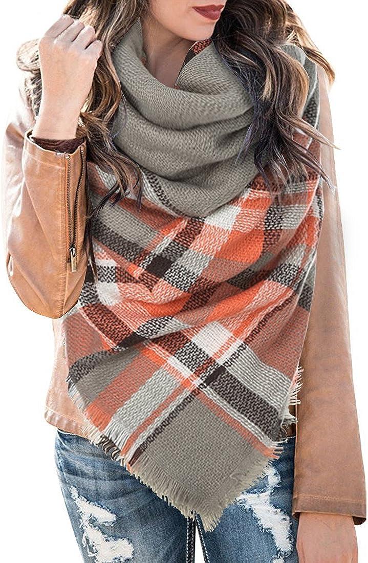 Blanket Scarf Plaid Winter...