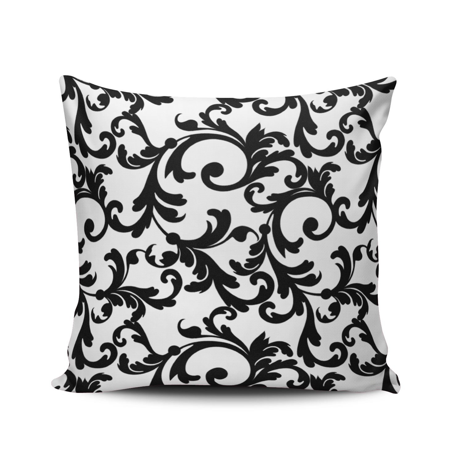 Salleing Custom Beauty Design White and Black Elegant Damask Decorative Pillowcase Pillowslip Throw Pillow Case Cover Zippered One Side Printed 12x16 Inches SALLEING Co. Ltd