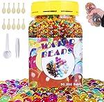 SaiXuan Water Beads-90000 Pieces Beads 1 Scoop 1 Tweezers,Jelly Water Gel
