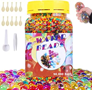 SaiXuan Water Beads-90000 Pieces Beads 1 Scoop 1 Tweezers,Jelly Water Gel Beads for Spa Refill,Vases,Plant,Wedding and Home Decor
