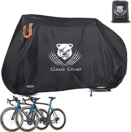 A Waterproof Bike Cover for 2 Bikes Heavy Duty 210D Oxford Bicycle Anti Dust UV Protection Indoor Outdoor Covers with Storage Bag N