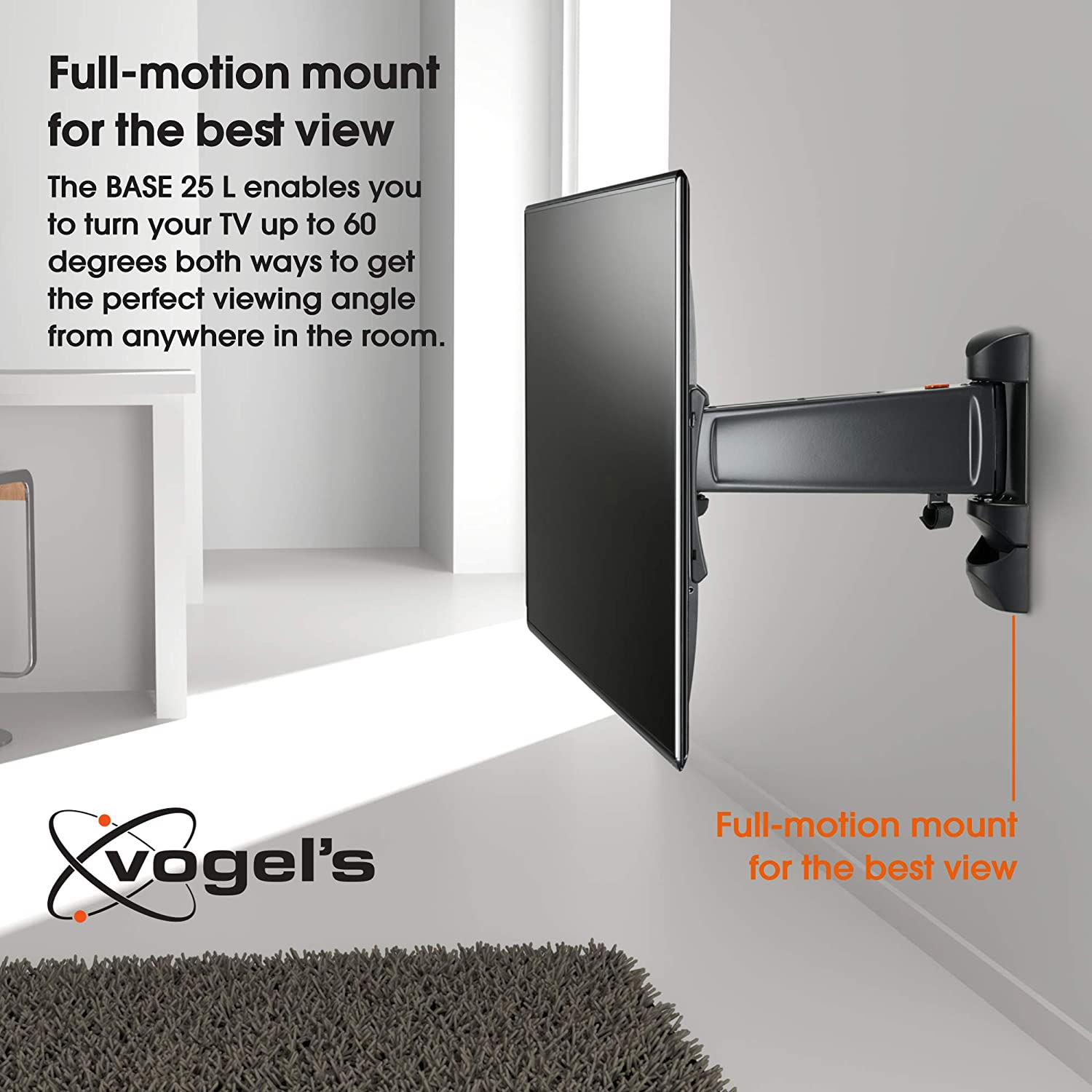 Vogels BASE 25 L, Soporte de pared para TV 40: Amazon.es: Electrónica