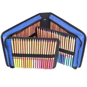 yimoji 120 ranuras práctico soporte de Estuche de lápices de colores, bolsas de cosméticos para Teen Girls estudiantes, color azul