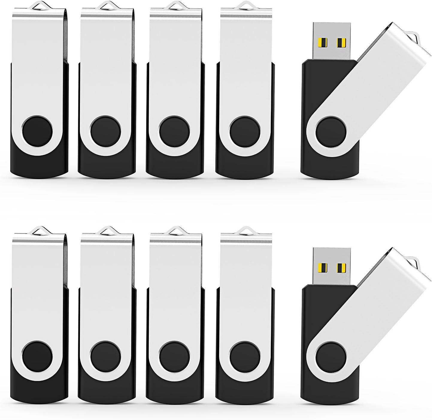 Black Aiibe 32 GB Flash Drive USB 3.0 USB Flash Drives 10 Pack Thumb Drive USB Stick Jump Drive 32GB 3.0