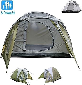 Campmore - Tienda de campaña para 3/4 personas, tienda de cúpula, tienda de campaña High Peak, doble capa (verde): Amazon.es: Deportes y aire libre