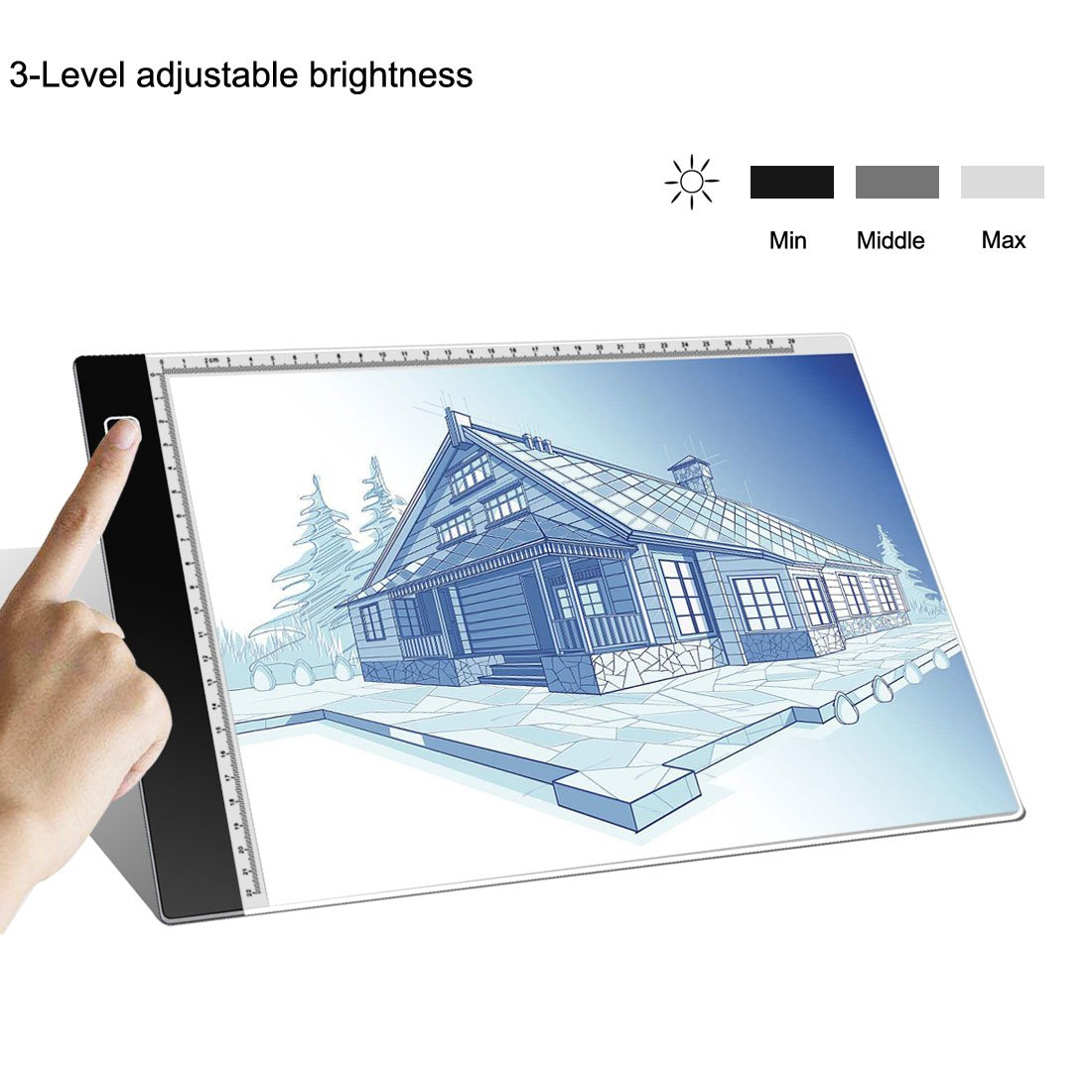 Tracing Light Box A4 Ultra-Thin Portable LED Light Box Tracer USB Power Cable Dimmable Brightness LED Artcraft Tracing Light Pad for Artists Drawing Sketching Animation Stencilling X-rayViewing