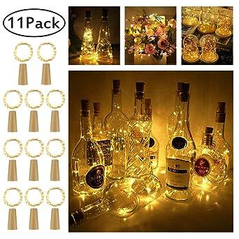 Led Flaschen Licht 11 Stuck 20 Leds 2m Kupferdraht Lichterkette