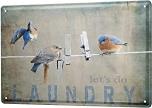 LEotiE SINCE 2004 Tin Sign Metal Plate Decorative Sign Home Decor Plaques Fun Laundry