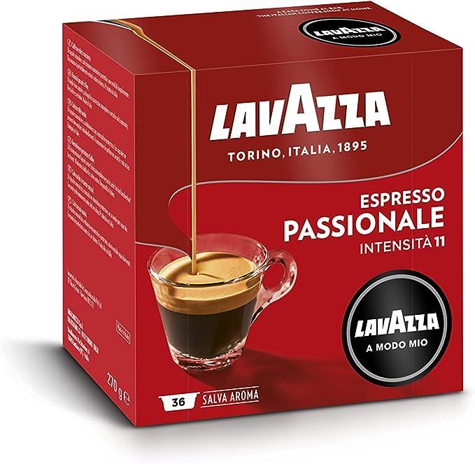 Lavazza A Modo Mio Passionale Coffee Pods Espresso 100 Arabica 36 Capsules