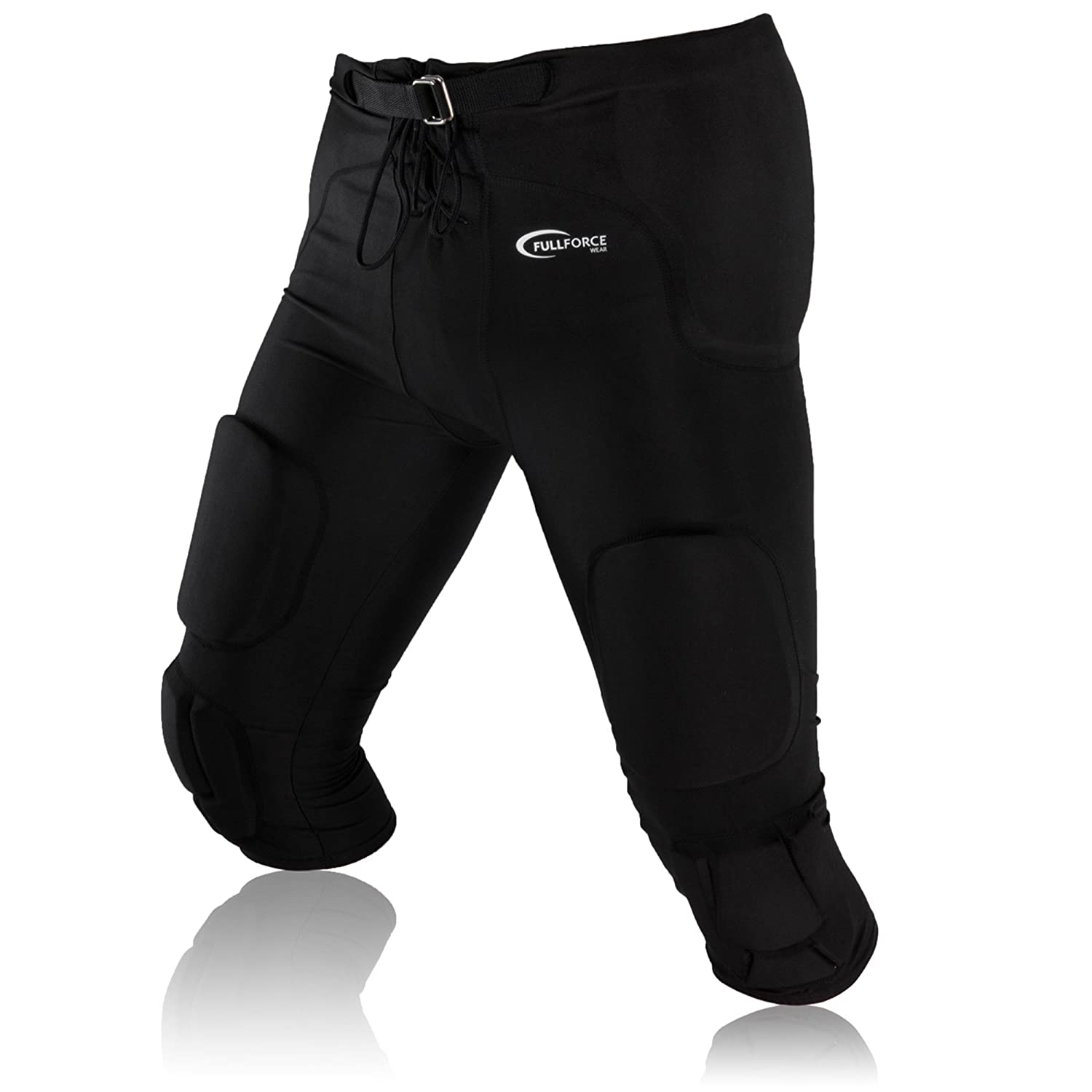 'Full Force American Football's Game Trouser Stretch with 7Integrated Pocket Pad All In One, Black, YXS–2XL YXS-2XL Full Force Wear