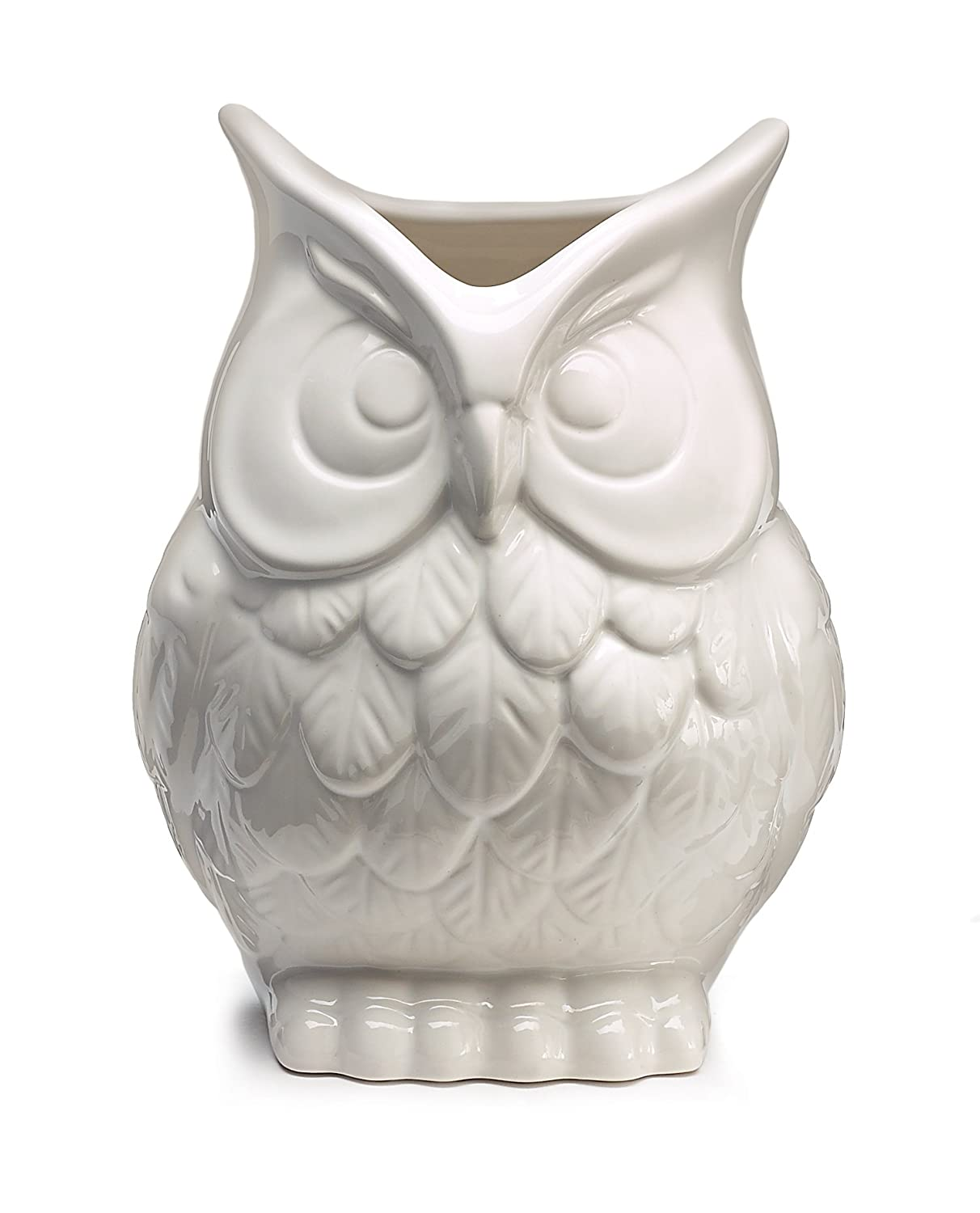 Amazon white ceramic owl vase decorative vase for owl lovers amazon white ceramic owl vase decorative vase for owl lovers home kitchen reviewsmspy