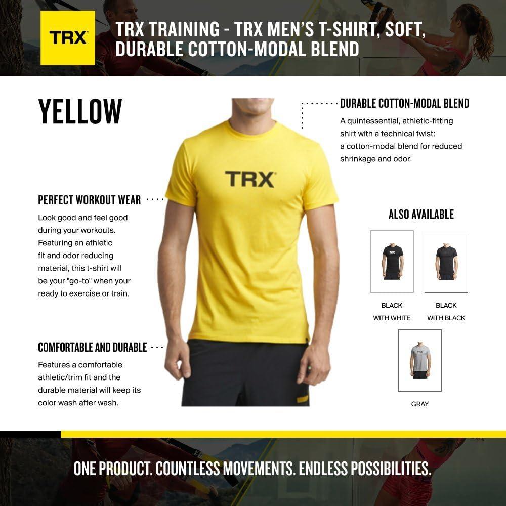 TRX Entrenamiento Camiseta Hombre, Mezcla de algodón y Modal ...