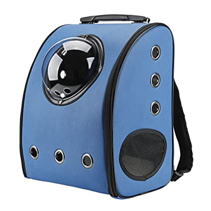 Texsens Innovative Traveler Bubble Backpack Pet Carriers for Cats and Dogs  (Blue) 0d97c02293