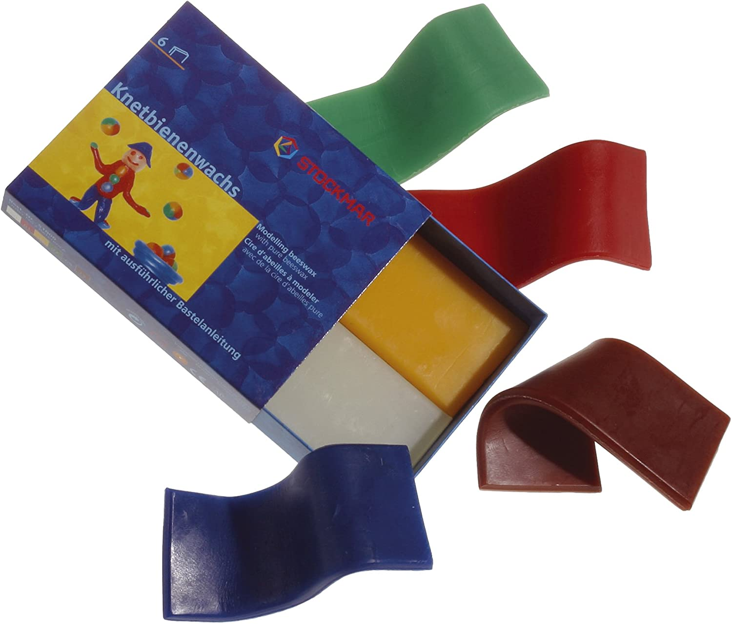 Stockmar Decorative Modelling Beeswax - 6 Colors - 100x40 mm