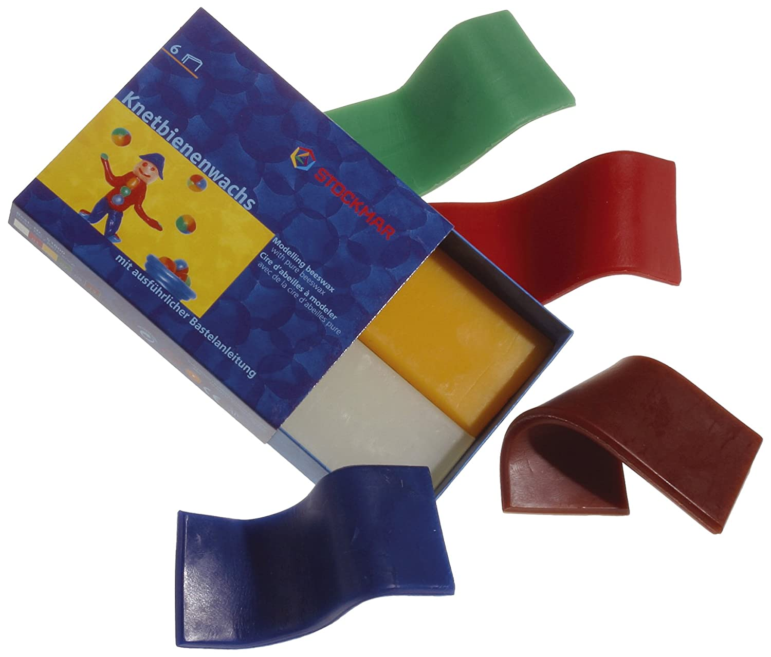 Stockmar Modeling Beeswax - Set of 6 Asst Colours FBA_51000