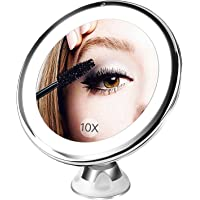 BESTOPE 10X Magnifying Lighted Makeup Mirror with 16 Natural Led