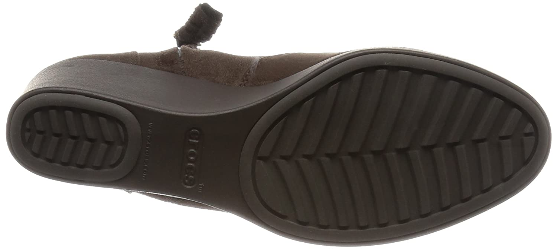 Crocs Damen - Leigh Synth Suede Wedge Wedge Wedge Stiefelie Espresso 5beac8