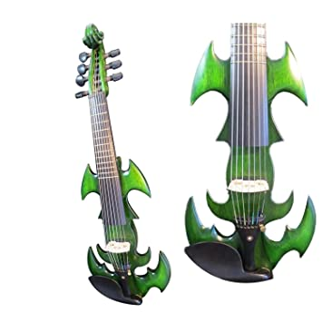 Canción marca verde Color violín eléctrico 7 cuerdas incrustados frects: Amazon.es: Instrumentos musicales