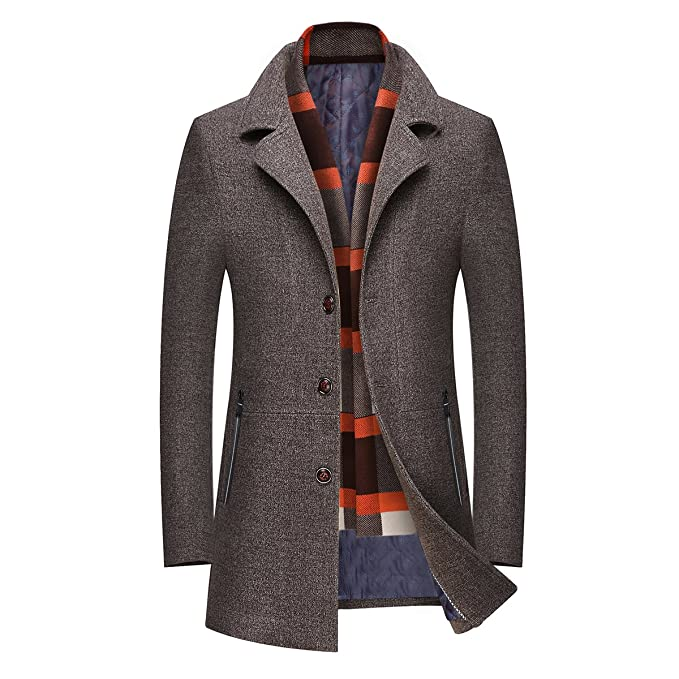 Mire Coo Hombre cálido Woll Abrigo Abrigo Corto Chaqueta de Invierno Business