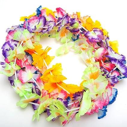 Amazon 12 hawaiian luau jumbo silk flower leis tropical party 12 hawaiian luau jumbo silk flower leis tropical party mightylinksfo