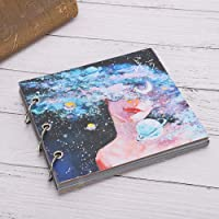 【2021 New Year's Special】Diary Notebook, Sketch Paper, Dotted Line for Beginner Painter(Black card paper)