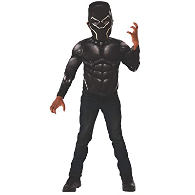 Imagine by Rubie\'s Marvel Black Panther Movie Black Panther Muscle Chest Shirt Set: Toys & Games [5Bkhe0300341]