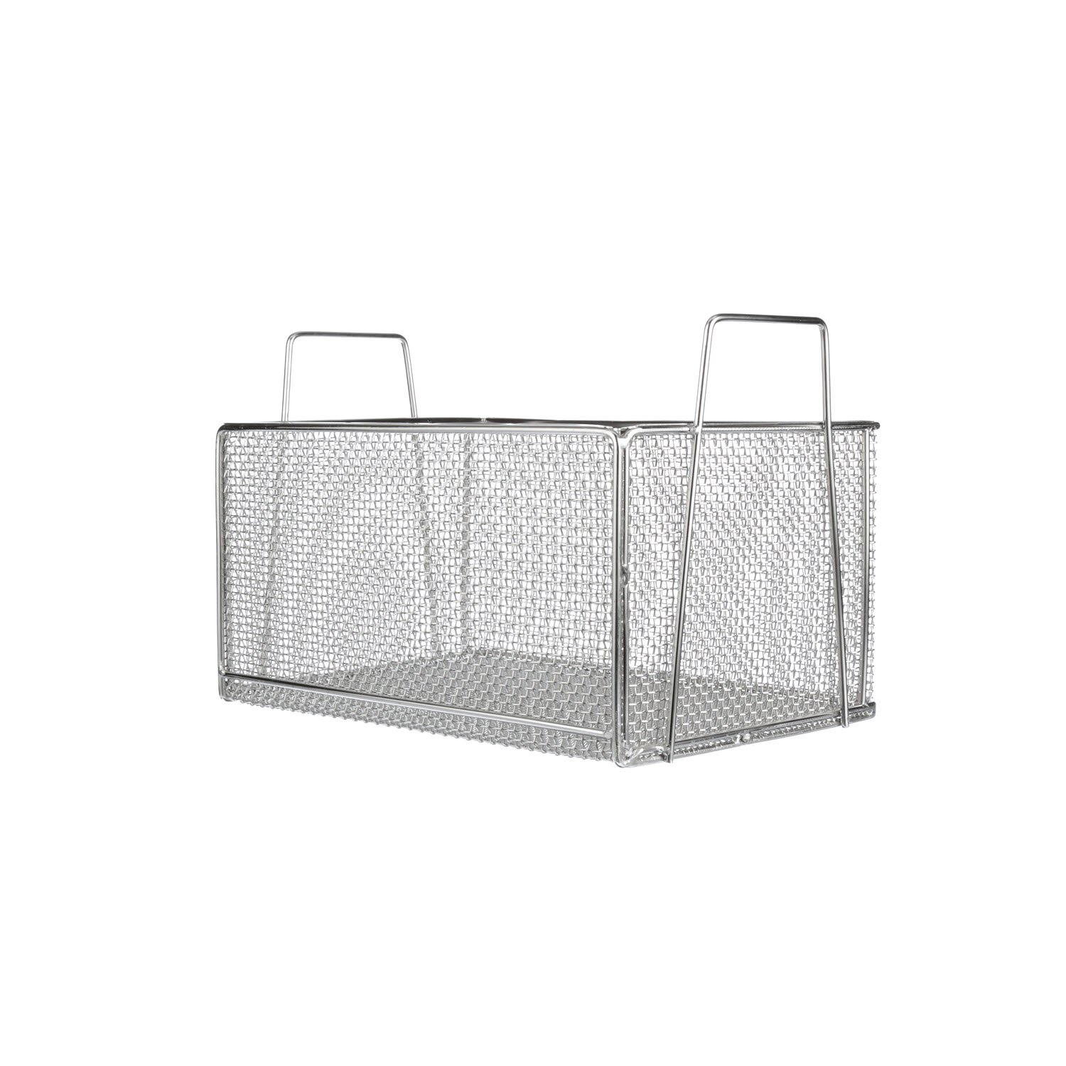 Marlin Steel 00-105A-31 Mesh Basket with Handles, Rectangular, Stainless Steel, Electropolished by Marlin Steel Wire Products