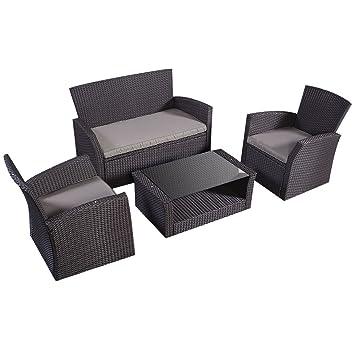 Costway – Conjunto de muebles de jardín, juego de cuatro ...