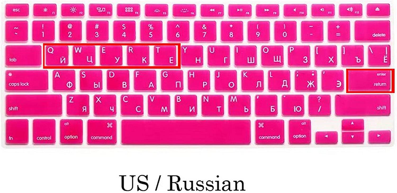 EU US Soft Silicon for MacBook Pro 13 15 Keyboard Cover Russian Cover for MacBook Pro 13 15 A1278 A1286 Russia Keyboard-EU Russia Green