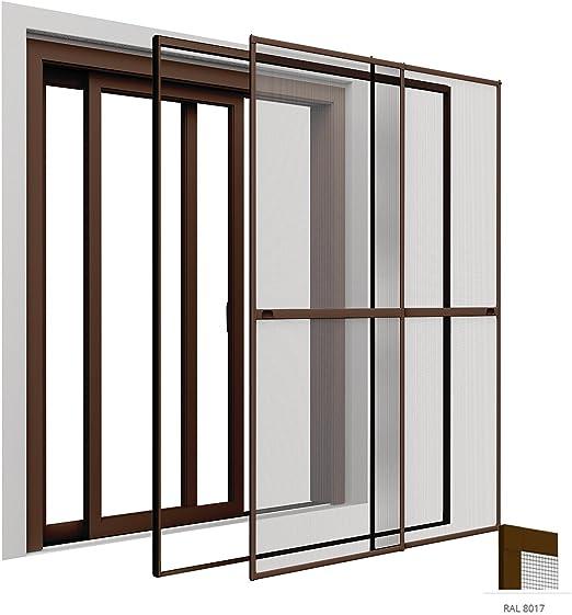 Protección de doble puerta corredera 230 x 240 cm para puerta en colour marrón con sujeción marco: montaje sin taladrar, de forma individual regulable: Amazon.es: Bricolaje y herramientas