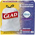 Glad 80-Count OdorShield Tall Kitchen Drawstring 13 Gallon Trash Bags