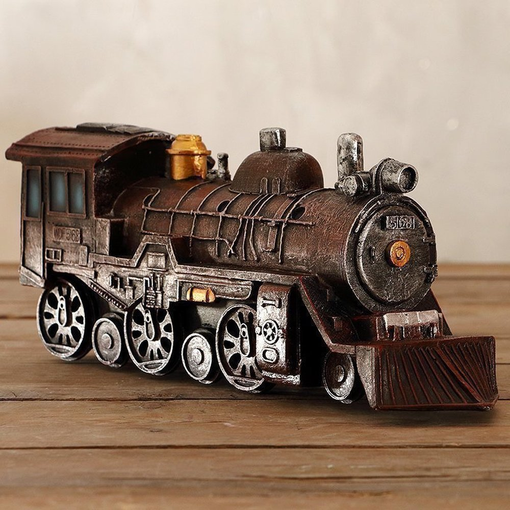 BWLZSP American World War II locomotive model creative bar window props car ornaments home decorations crafts WL5141735