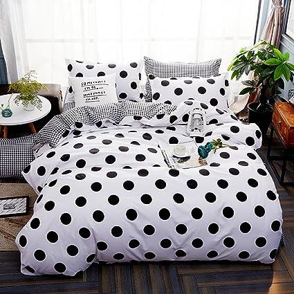 Polka Dot Black White Modern Spots Reversible Bedding New