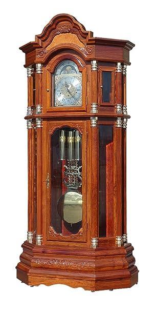 new product 09789 6ddfe Amazon | 最高級 ホールクロック ブラウン ドイツ製ムーブメント ...