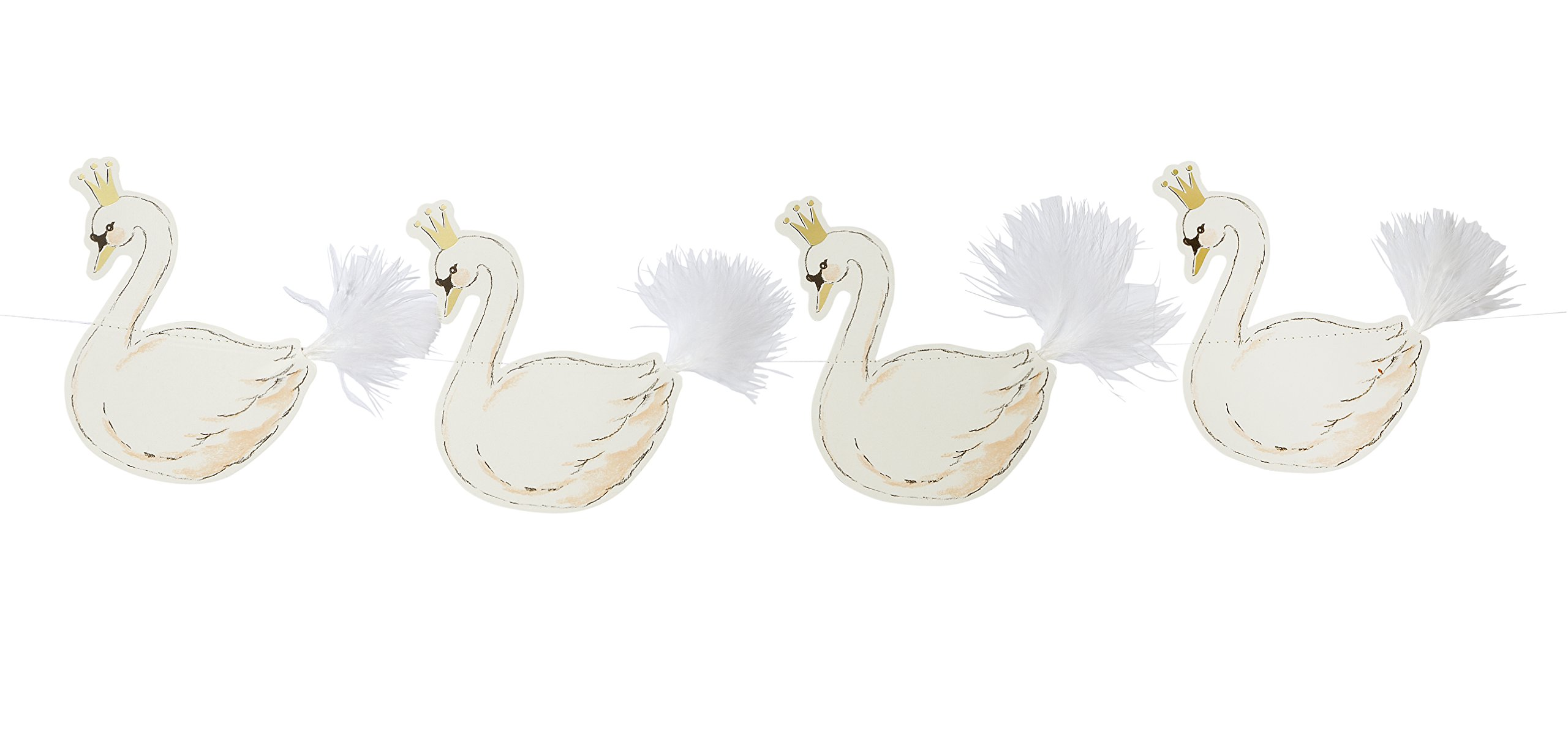 Talking Tables We Heart Swan, Hanging Garland, Multi-Colour (3m)