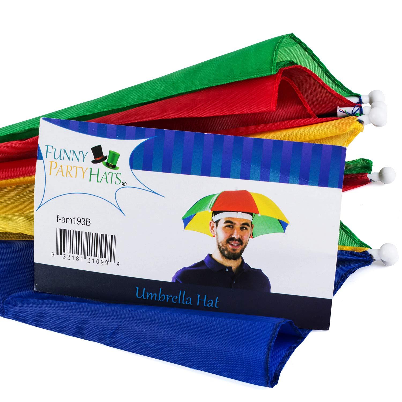 2475e760a31e0 Amazon.com  Funny Party Hats Umbrella Hat - Fishing Umbrella Hat for Kids  and Adults - Elastic